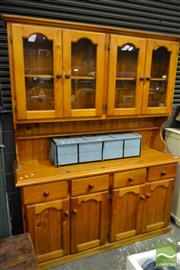 Sale 8499 - Lot 1659 - Pine Buffet and Hutch