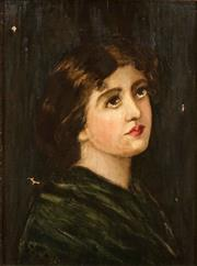 Sale 8538 - Lot 592 - Artist Unknown (C19th) - Portrait 39 x 29cm