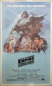 Sale 8566 - Lot 1127 - Original The Empire Strikes Back Style B Poster (103.5 x 67cm inner frame)