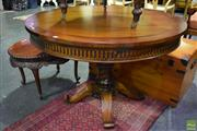 Sale 8566 - Lot 1752 - Round Single Pedestal Dining Table