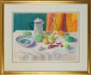 Sale 8914 - Lot 2016 - Alex Butler Still Life, 1989 pastel, 56 x 76cm, signed and dated -