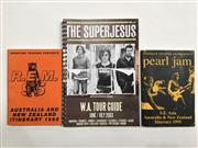 Sale 8926M - Lot 45 - Itinerary Booklets for Pearl Jam Aus & NZ 1995, R.E.M Aus & NZ 1995 and The Superjesus W.A 2003