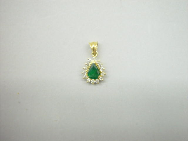 Sale 3545 - Lot 113 - AN EMERALD AND DIAMOND PENDANT;