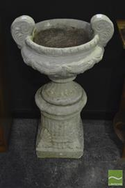Sale 8305 - Lot 1010 - Composite Form Urn on Stand