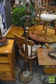 Sale 8338 - Lot 1671 - Turned Timber Standard Lamp
