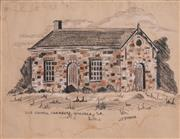 Sale 8509 - Lot 2032 - John Dynon (1954 - ) - Old Council Chambers, Willunga, S.A. 22.5 x 28.5cm
