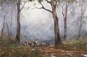 Sale 8732 - Lot 529 - Kevin Best (1932 - 2012) - Crossing the Cobungra 50 x 75cm
