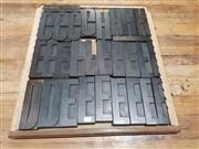 Sale 8723 - Lot 1012 - Printers Blocks in 7 Trays