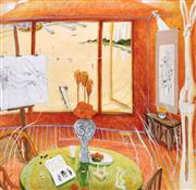 Sale 9072A - Lot 5076 - Brett Whiteley (1939 - 1992) - Interior with Time Past 47 x 48 cm (frame: 83 x 83 cm)