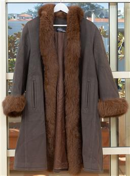 Sale 9165H - Lot 80 - A Hammerman Couture cashmere fur lined coat, size M-L