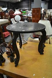 Sale 8019 - Lot 1027 - Carved Timber Lamp Table