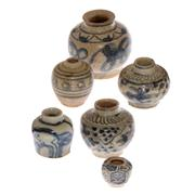 Sale 8132B - Lot 477 - A group of early blue and white miniature vases.