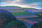 Sale 8234A - Lot 12 - Fangmin Wu - Afternoon View Of Blue Mountain 46 x 67cm