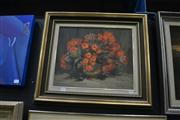 Sale 8441T - Lot 2024 - Olive McAleer (1980s - 1990s) - Native Flowers 37 x 44.5cm