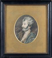 Sale 8470H - Lot 359 - A hand coloured engraving, possibly Dante, H 15cm