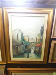 Sale 8645 - Lot 2033 - Artist Unknown - Canal Scene, Venice 70 x 90 cm (frame size)