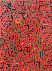 Sale 9011 - Lot 2012 - Paul Schacher Abstract acrylic on linen, 46 x 35cm, signed -