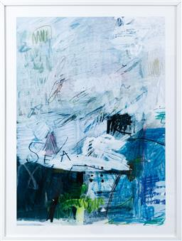 Sale 9150H - Lot 69 - A Blacklist framed abstract print of the sea (frame size 103.5 x 78cm)