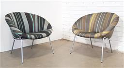 Sale 9171 - Lot 1089 - Pair of matched Walter Knoll tub chairs with Paul Smith upholstery (h:70 w:75cm)
