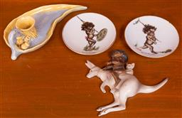 Sale 9191W - Lot 725 - A small collection of Australian ceramics including Brownie Downing
