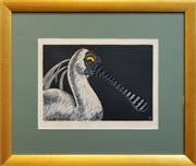 Sale 8266 - Lot 600 - Leslie Van Der Sluys (1939 - 2010) - Australian Royal Spoonbil 27 x 38cm