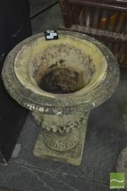 Sale 8331 - Lot 1563 - Concrete Form Urn Planter and Another