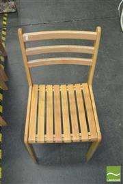 Sale 8352 - Lot 1062 - Set of 8 Modern Timber Dining Chairs