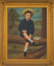 Sale 8459 - Lot 576A - Early C20th School - Portrait of a School Boy 90 x 70cm