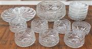 Sale 8562A - Lot 99 - A large quantity of cut glass glasswares including dessert bowls, sundae dishes, etc