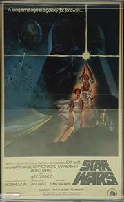 Sale 8566 - Lot 1124 - Original A New Hope Star Wars Movie Poster (71 x 48.5cm inner frame)