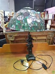Sale 8566 - Lot 1316 - Leadlight Shade Table Lamp
