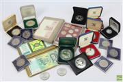 Sale 8618 - Lot 95 - British and Australian Royal Mint Silver Proof Coins incl. 1 & 2oz varieties and others