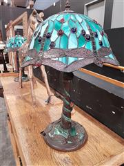 Sale 8777 - Lot 1003 - Pair of Leadlight Shade Table Lamps