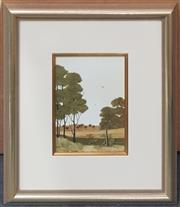 Sale 9053 - Lot 2010 - Michael Taylor, Roads to the Southern Fields, oil on board, 39 x 34 cm (frame), signed lower right