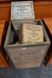 Sale 8013 - Lot 1216 - Differing Timber Tea Chests