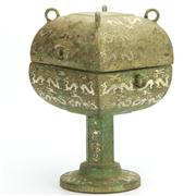 Sale 8162 - Lot 3 - Archaic Dou with Silver Inlay
