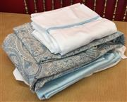 Sale 8310A - Lot 306 - A small quantity of quality bedding in pale blue, paisley and white tones