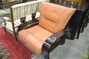 Sale 8368 - Lot 1081 - Timber Framed Lounge Chair