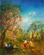 Sale 8597 - Lot 560 - David Boyd (1924 - 2011) - Under the Cherry Tree 36 x 29.5cm
