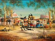 Sale 8675 - Lot 542 - Max Mannix (1939 - ) - Its the Only Time Theyre in a Hurry 44 x 59.5cm