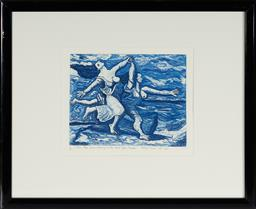 Sale 9094 - Lot 2005 - Bruno Tucci (1946 - ) Two Women Running on the Beach (After Picasso), 1990 etching, ed. 9/25 II State,54.5 x 45cm (frame), sigend an...