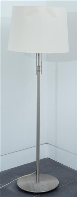 Sale 9150H - Lot 75 - A German adjustable floor lamp by Holtkoetter, total Height 139cm
