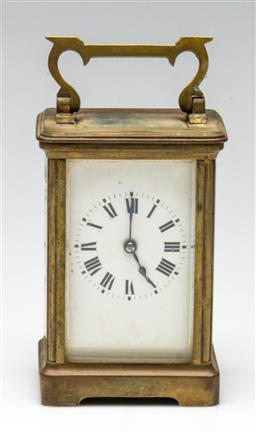 Sale 9211 - Lot 17 - A French Carriage Clock (H:11.5cm)
