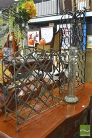 Sale 8277 - Lot 1083 - Two Metal Wine Racks