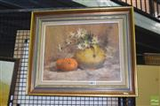 Sale 8441T - Lot 2075 - Olive McAleer (1980s - 1990s) - Still Life with Daisies 35 x 45cm