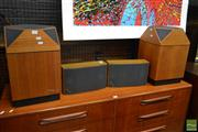 Sale 8528 - Lot 1010 - Pair of Danish Luxor Briljant Classic Box Speakers with a Pair of Mid-Range Speakers