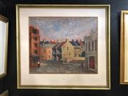 Sale 8856 - Lot 2010 - W. Chamberlain Residential Terraces 1998 oil painting, 73 x 81cm, signed and dated