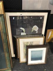 Sale 8861 - Lot 2053 - Group of Assorted Artworks incl: Sandi Rigby and Christian Kokai-Kun original prints, watercolour, plus a decorative print