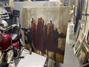 Sale 8874 - Lot 2072 - Artist Unknown - Abstract Figures, mixed media