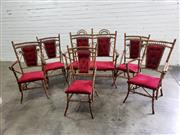 Sale 9071 - Lot 1051 - Tiger Cane Five Piece Suite, Two Seater Two Armchairs & Three Others (H101 x W106 x D60cm)